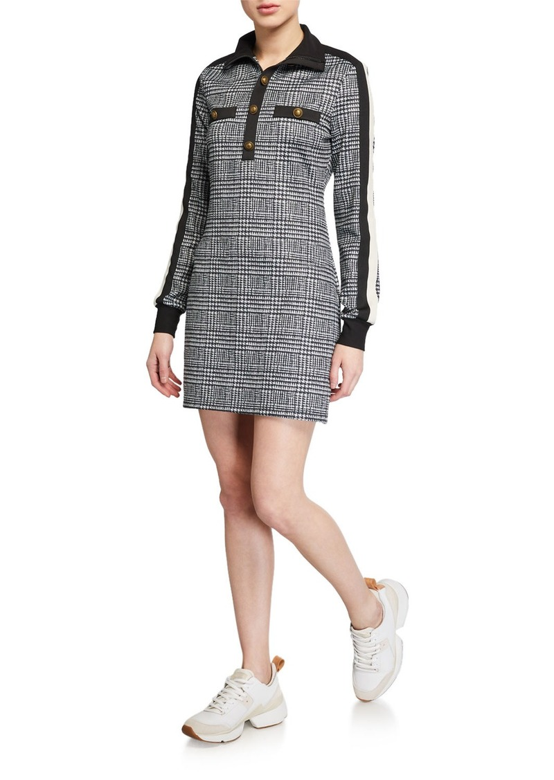 Pam & Gela Glen Tart Long-Sleeve Mini Track Dress