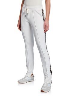 Pam & Gela Leopard Stripe Cigarette Track Pants