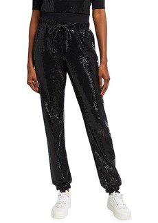 Pam & Gela Mirror Ball Sequin Sweatpants