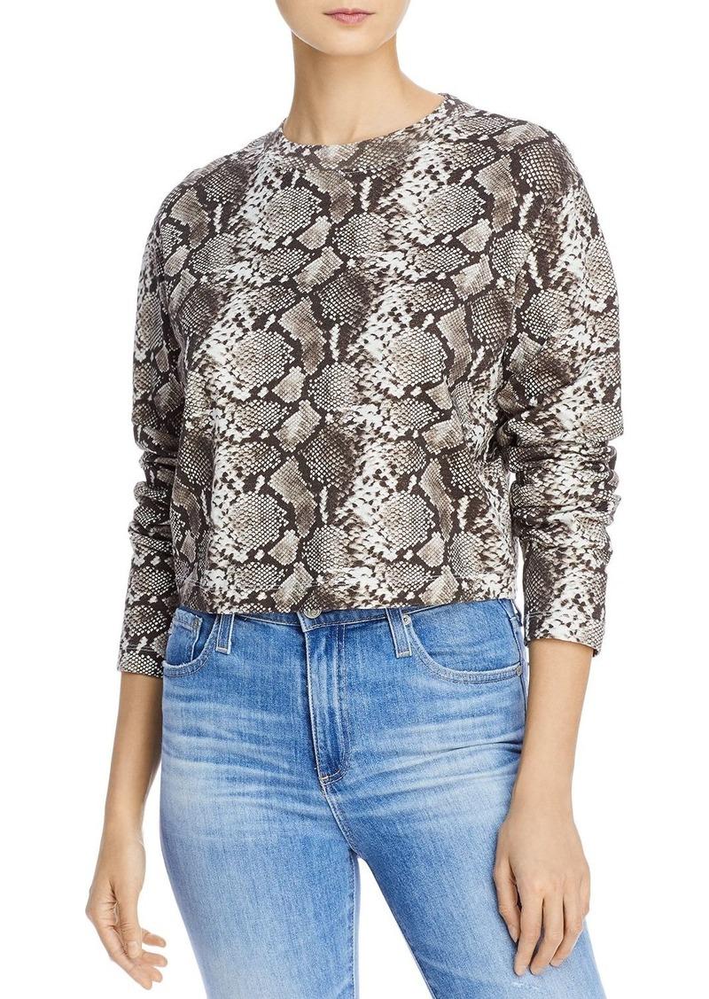 Pam /& Gela Womens Baby Boa Slouchy Crop Shirt
