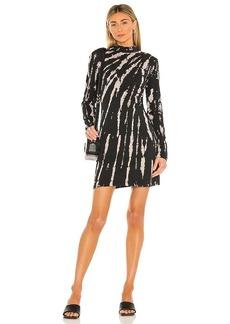 Pam & Gela Bleach Tie Dye Mock Neck Dress