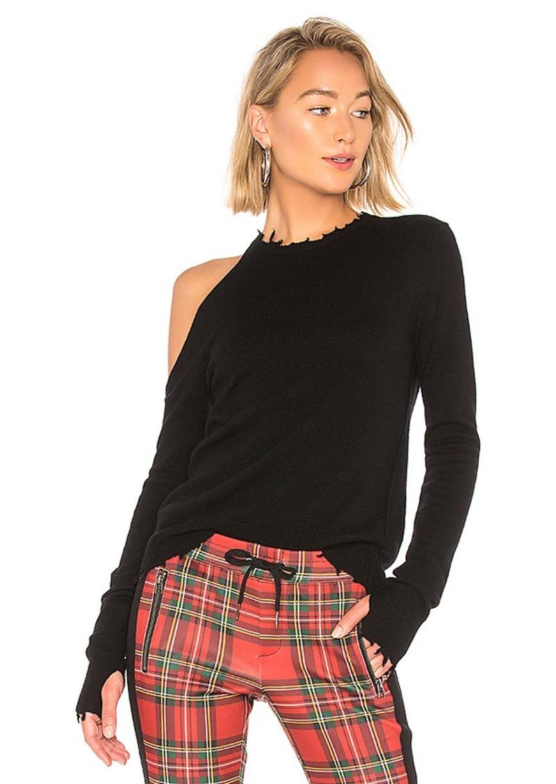 Pam & Gela Cold Shoulder Crew Neck Sweater