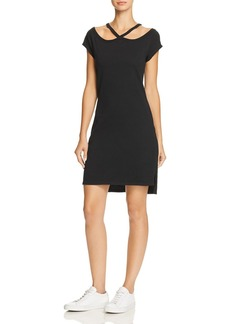 PAM & GELA Cold-Shoulder Tee Dress