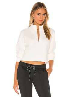 Pam & Gela Crop Half Zip Sweatshirt
