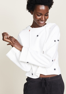Pam & Gela Cropped Hoodie with Embroidered Stars
