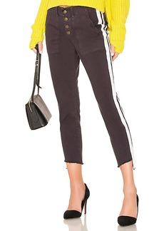 Pam & Gela Double Stripe Step Hem Pant