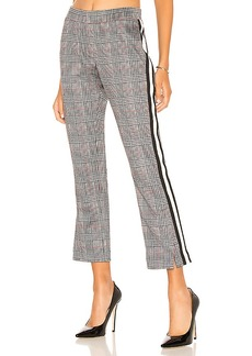 Pam & Gela Glen Plaid Cropped Track Pant