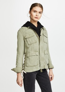Pam & Gela Lace Up Field Jacket
