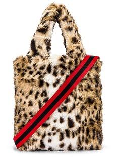 Pam & Gela Leopard Faux Fur Bag