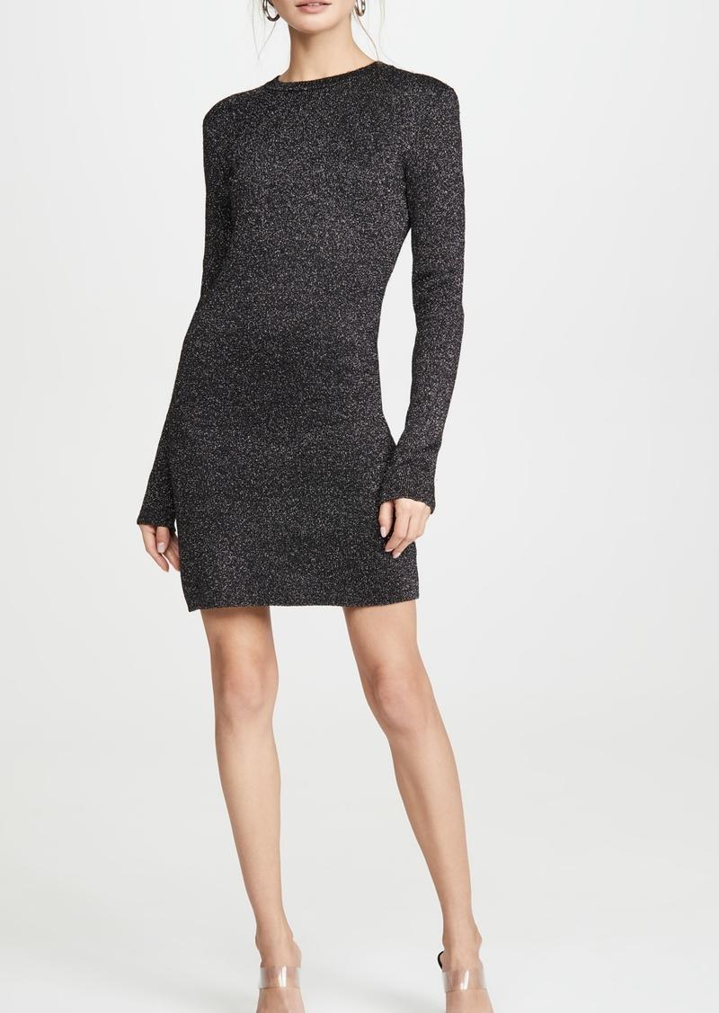 Pam & Gela Metallic Long Sleeve Dress