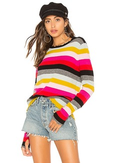 Pam & Gela Multistripe Crew Neck Sweater
