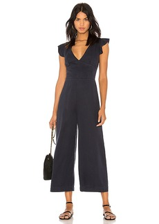 Pam & Gela Ruffle Sleeve Laced Back Jumpsuit