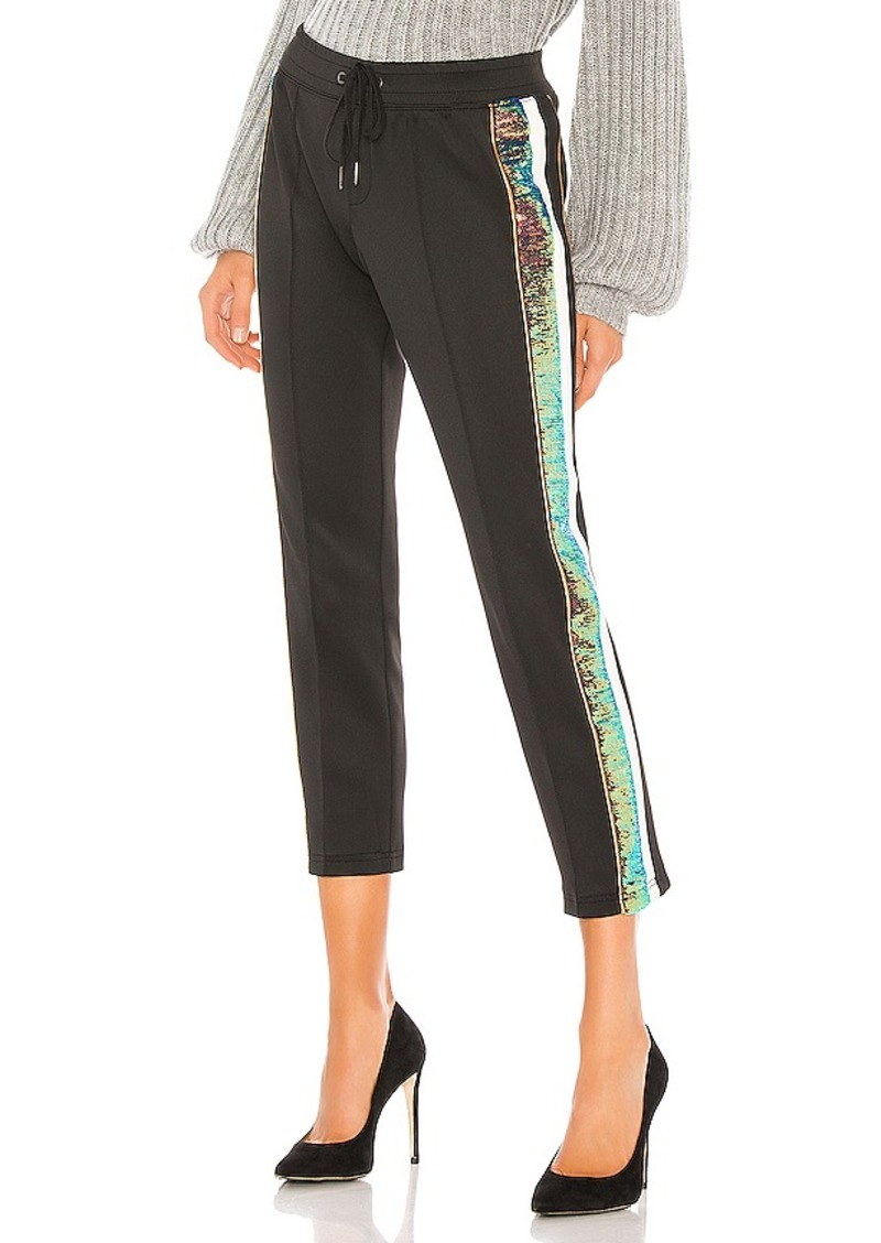 Pam & Gela Sequin Stripe Crop Track Pant