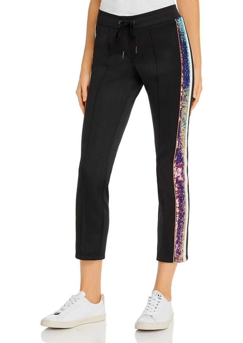 PAM & GELA Sequin-Stripe Track Pants