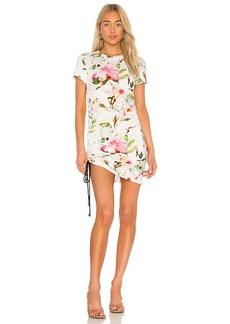 Pam & Gela Short Sleeve Side Shirred Mini Dress
