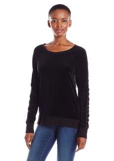 Pam & Gela Women's Back/Sleeve Lace up Sweatshirt  M