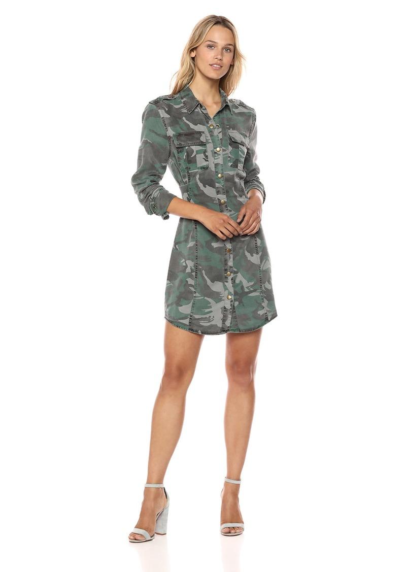 Pam & Gela Women's CAMO Shirt Dress W/Corset Print