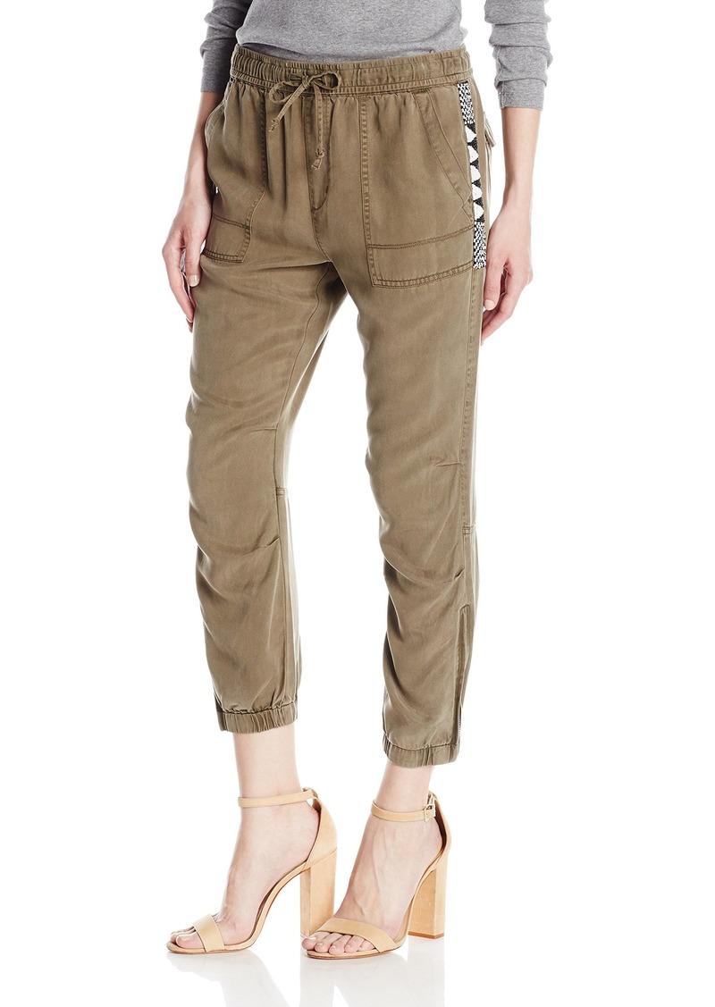 Pam & Gela Women's Cargo Pant W/Zips  M
