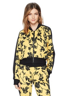 Pam & Gela Women's Crop Track Jacket with Side Stripe
