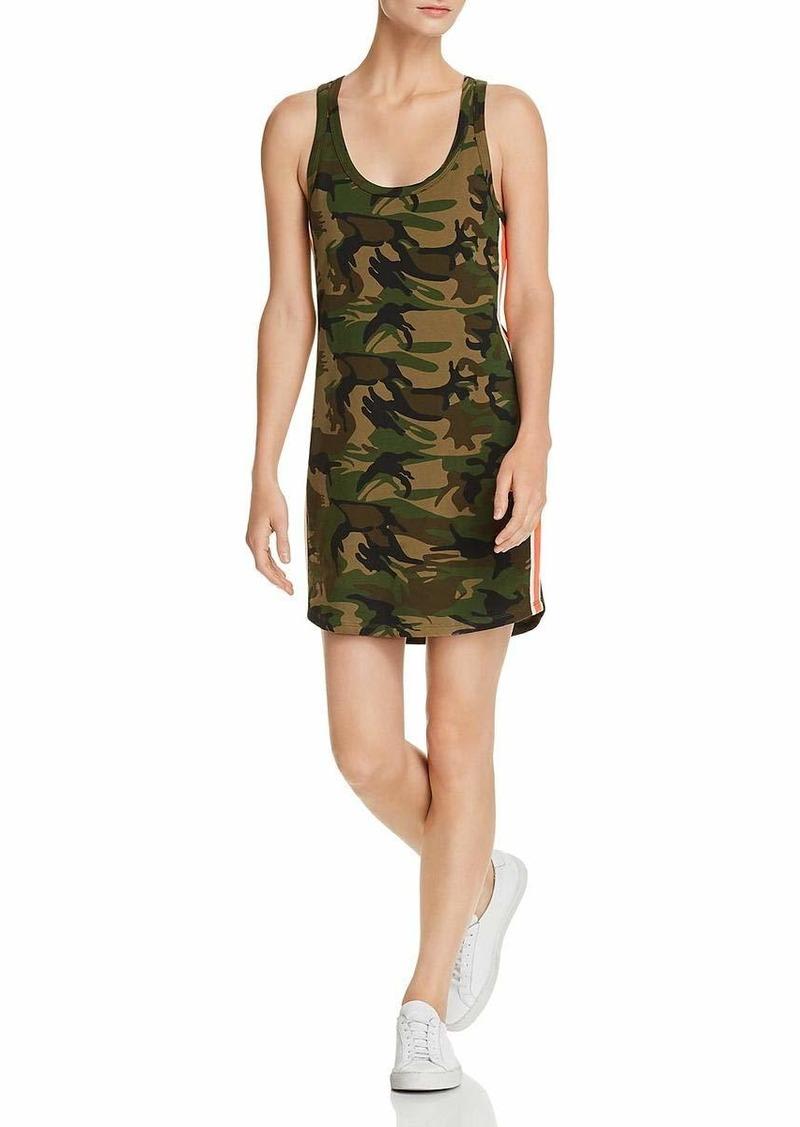 Pam & Gela Women's Tank Dress with Side Stripes Army camo