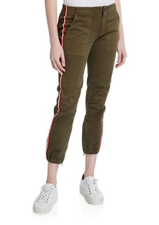 Pam & Gela Side-Stripe Cargo Pants with Elastic Hem