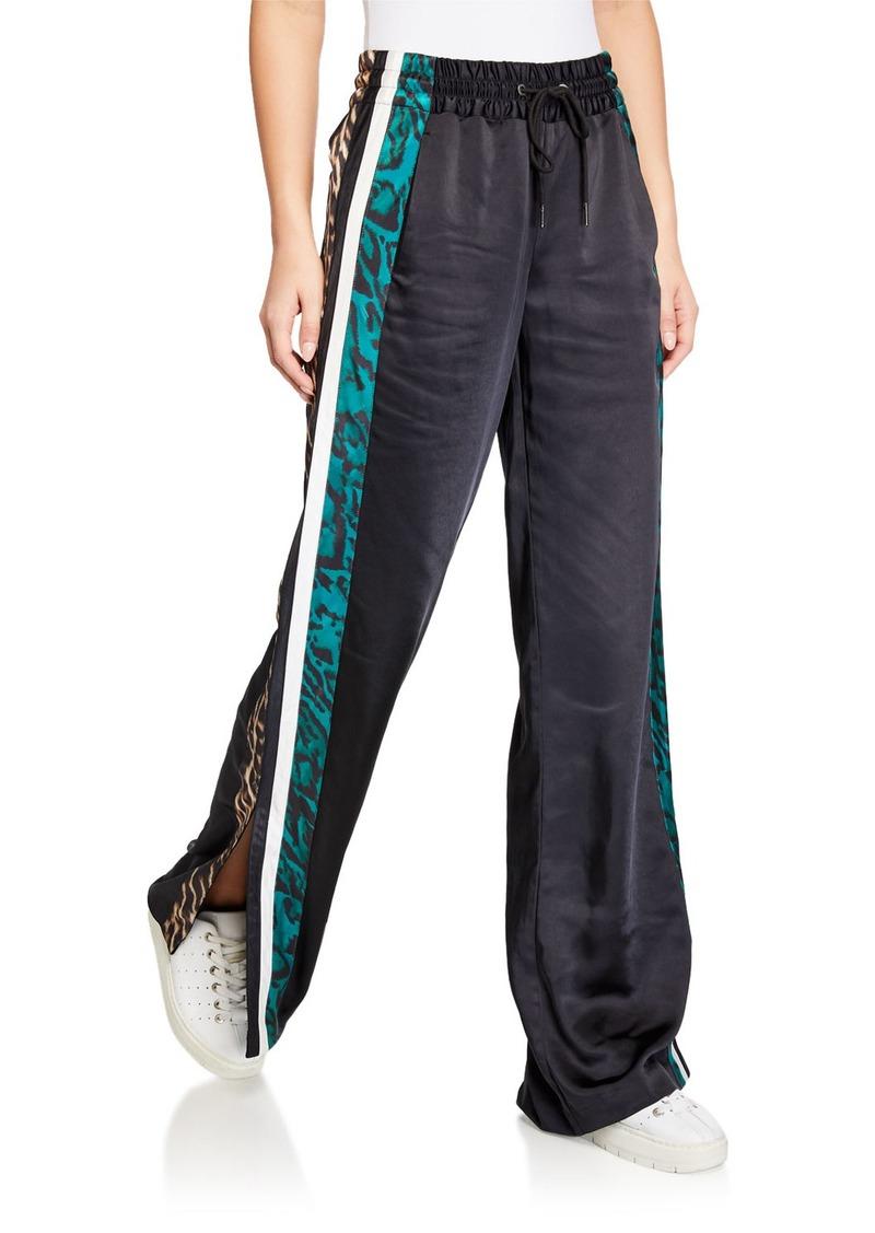 Pam & Gela Silky Side-Slit Track Pants