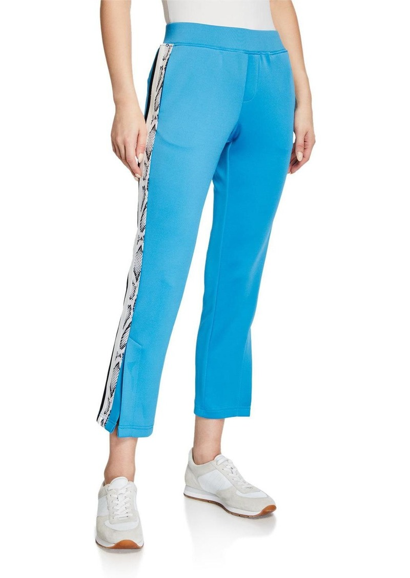 Pam & Gela Snake-Stripe Crop Flare Track Pants