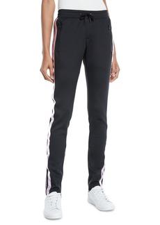 Pam & Gela Sporty Drawstring Cigarette Pants w/ Racer Stripes