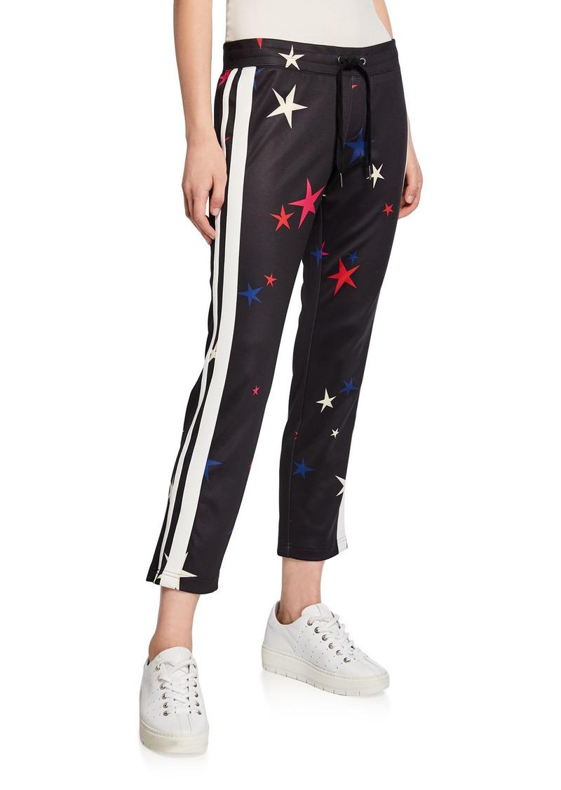 Pam & Gela Stars Side-Stripe Drawstring Crop Track Pants