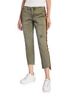 Pam & Gela Uniform Side Stripe Pants w/ Lace-Up Back Detail