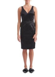 Paper Crown Blanche Sheath Dress
