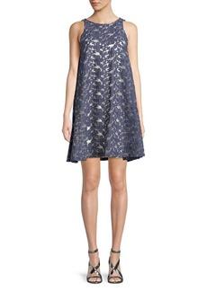 Paper Crown Eyelet A-Line Dress