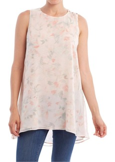 Paper Crown Floral Printed Sleeveless Shift Tunic