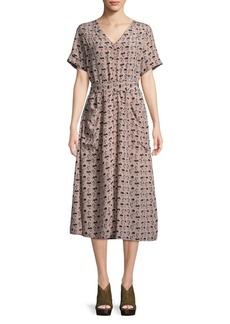 Paper Crown Floral Tie-Waist Dress