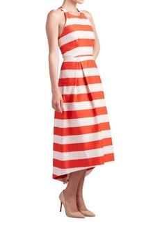 Paper Crown Gobi Striped Roundneck Dress