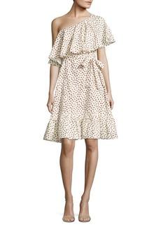 Paper Crown Harper Printed One-Shoulder Dress