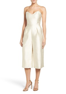 Paper Crown Milan Strapless Culotte Jumpsuit