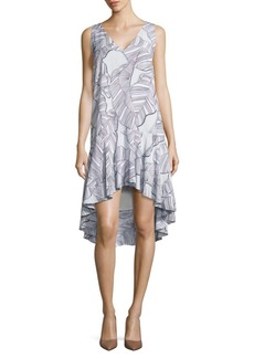 Paper Crown Nogales Solid Hi-Lo Dress
