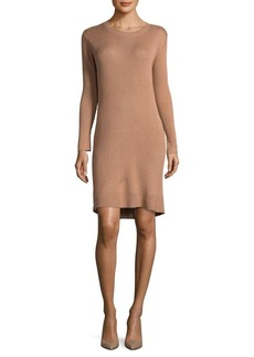 Paper Crown Ribbed Sweater Dress