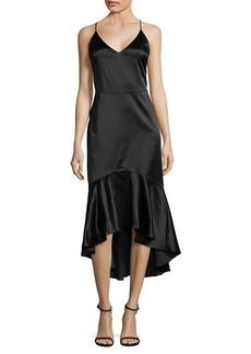 Paper Crown Ruffle-Trim Hi-Lo Dress