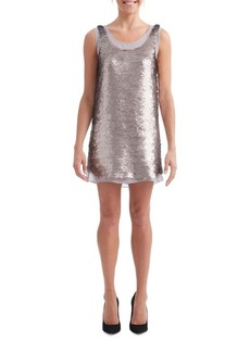 Paper Crown Sequin Smoke Shift Dress