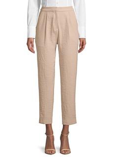 Paper Crown Twill Crop Straight-Leg Pants