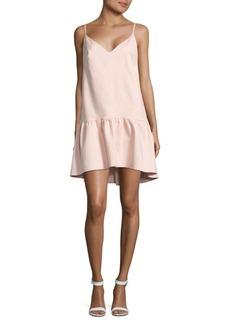 Paper Crown V-Neck Drop Waist Dress