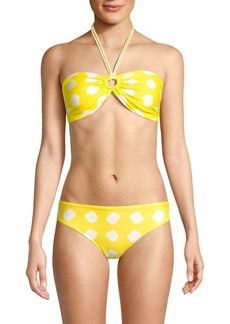 PAPER London Bandeau Halterneck Bikini Top