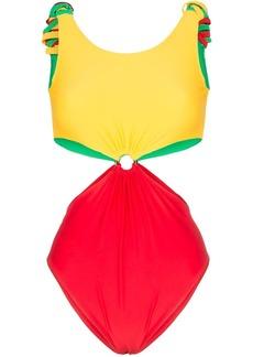 PAPER London Barbuda cutout swimsuit