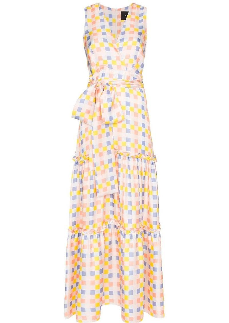 PAPER London check-print maxi dress