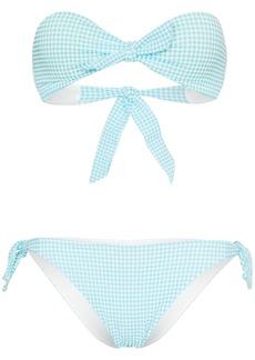 PAPER London gingham bandeau bikini