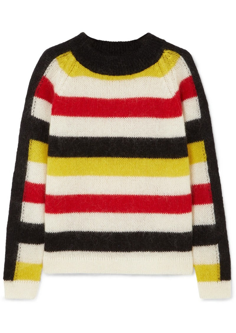 PAPER London Mona Striped Knitted Sweater