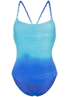 PAPER London ombré cross over strap swimsuit
