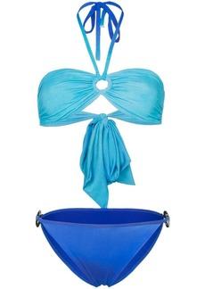 PAPER London ombre bandeau bikini